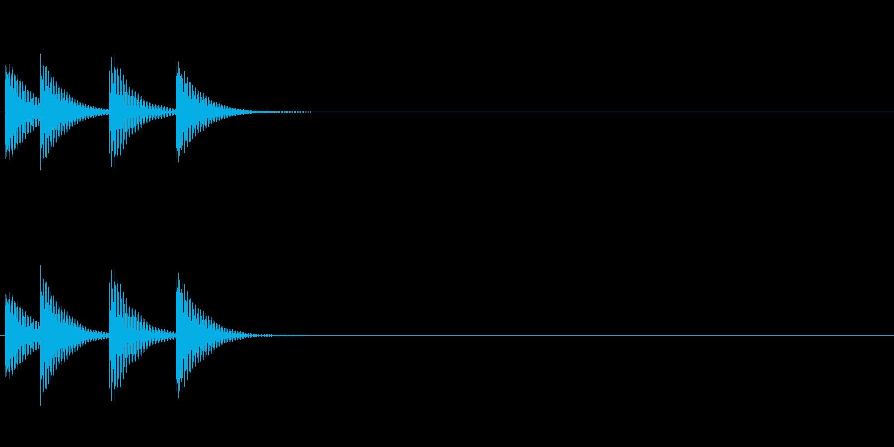 低い木琴ジングルの再生済みの波形