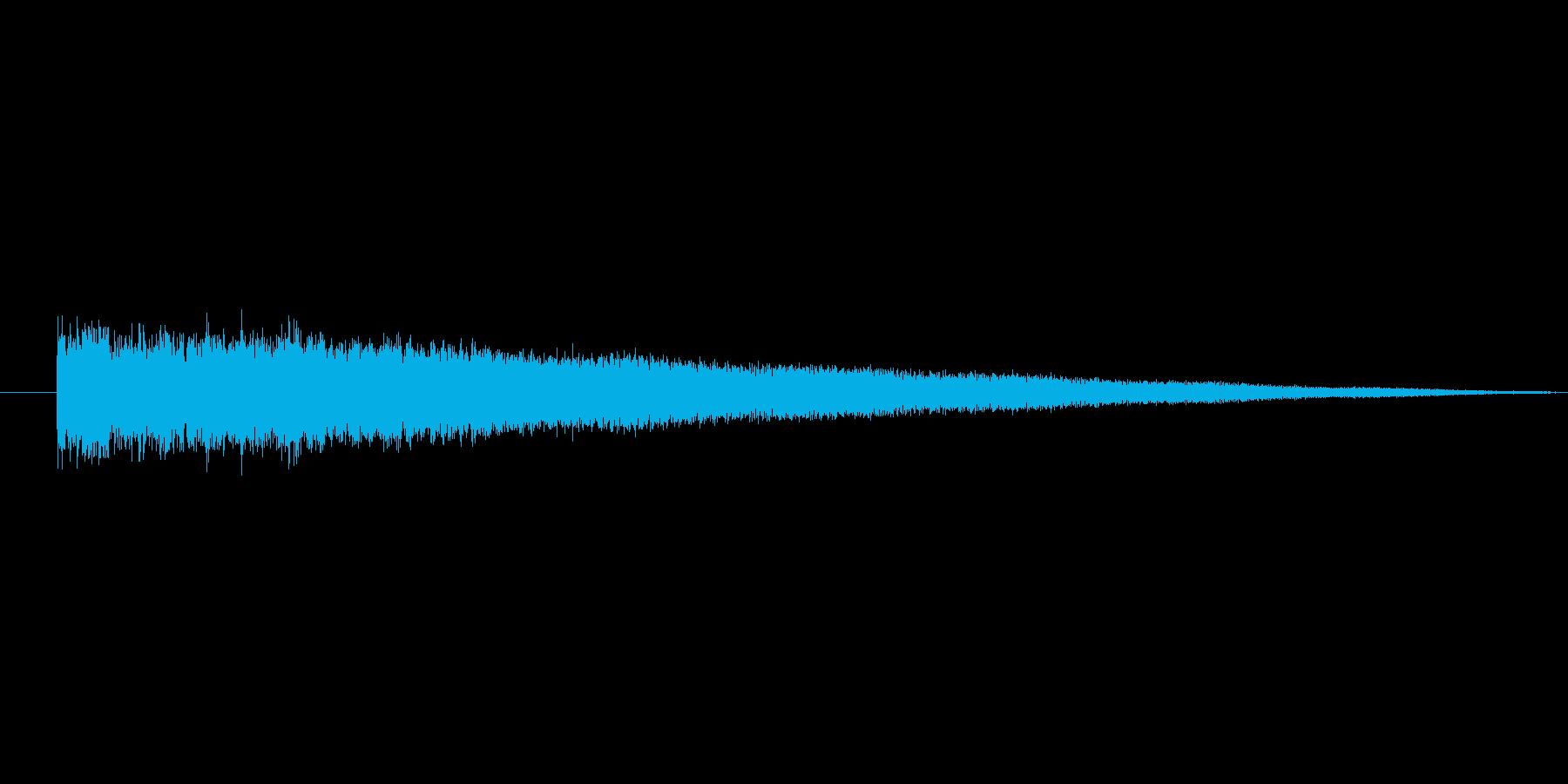 ガーン(暗い場所で響く金属音)の再生済みの波形