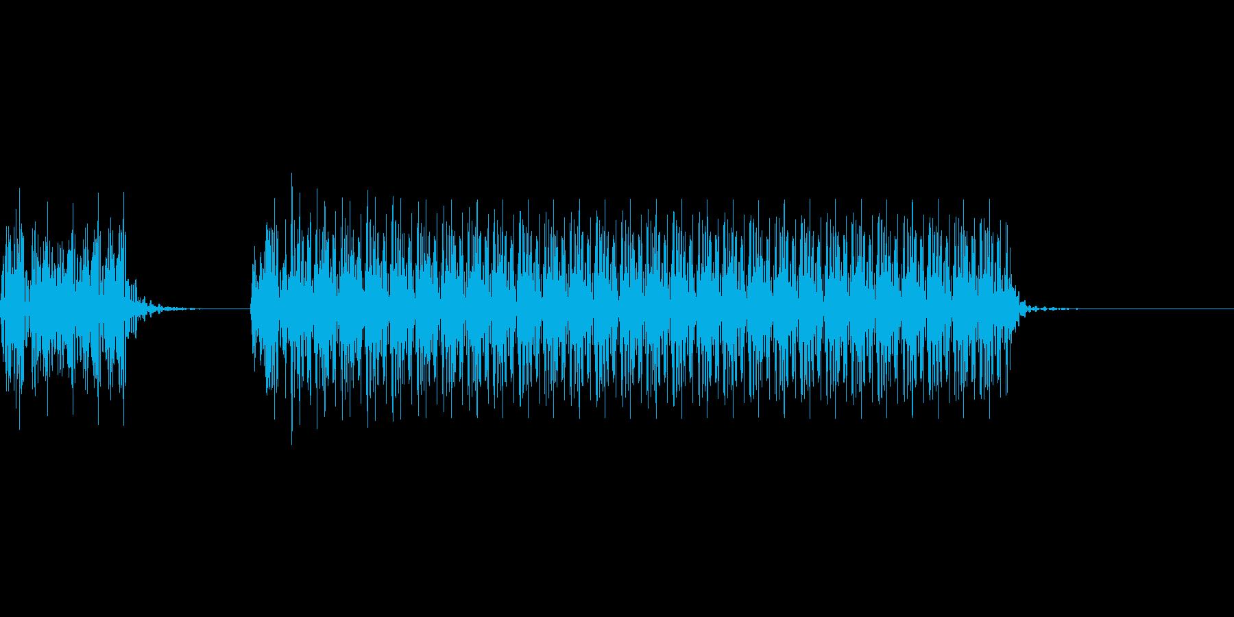 不正解のブザー音 1A ブブーの再生済みの波形