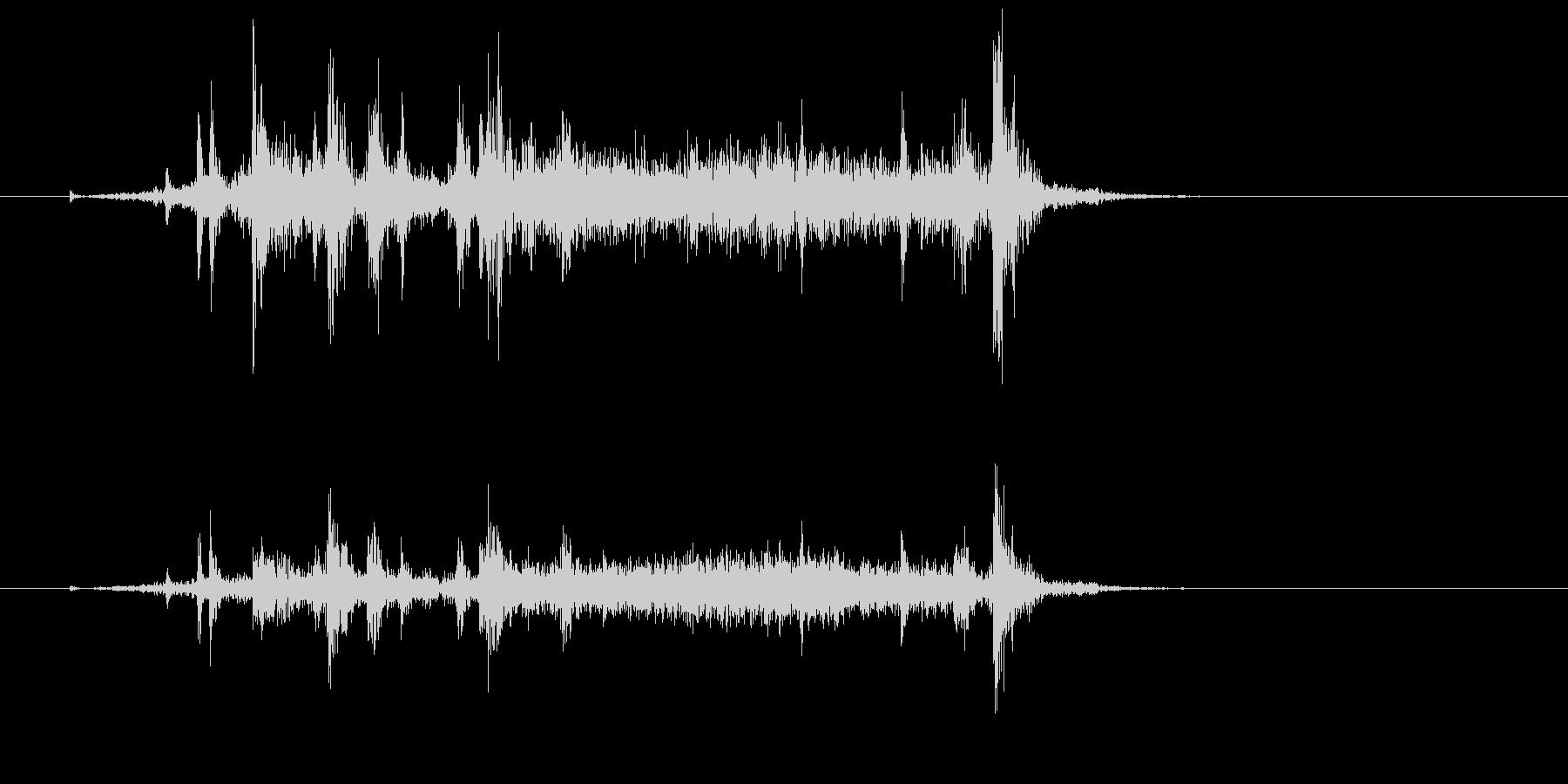 カメラのシャッター音の未再生の波形