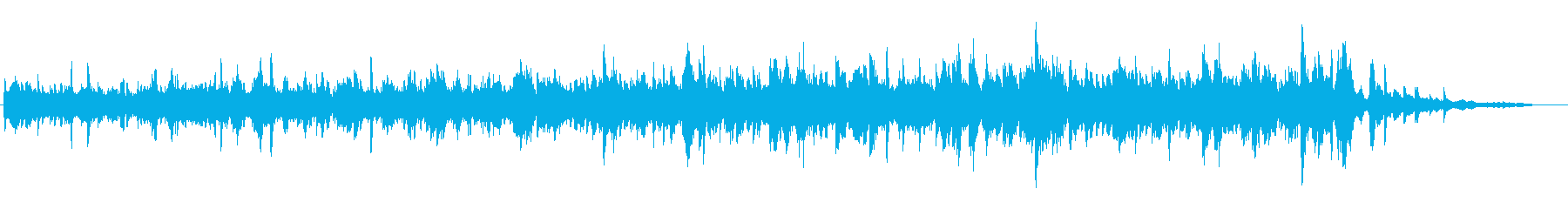 異空間のような浮遊感あるピアノ楽曲の再生済みの波形