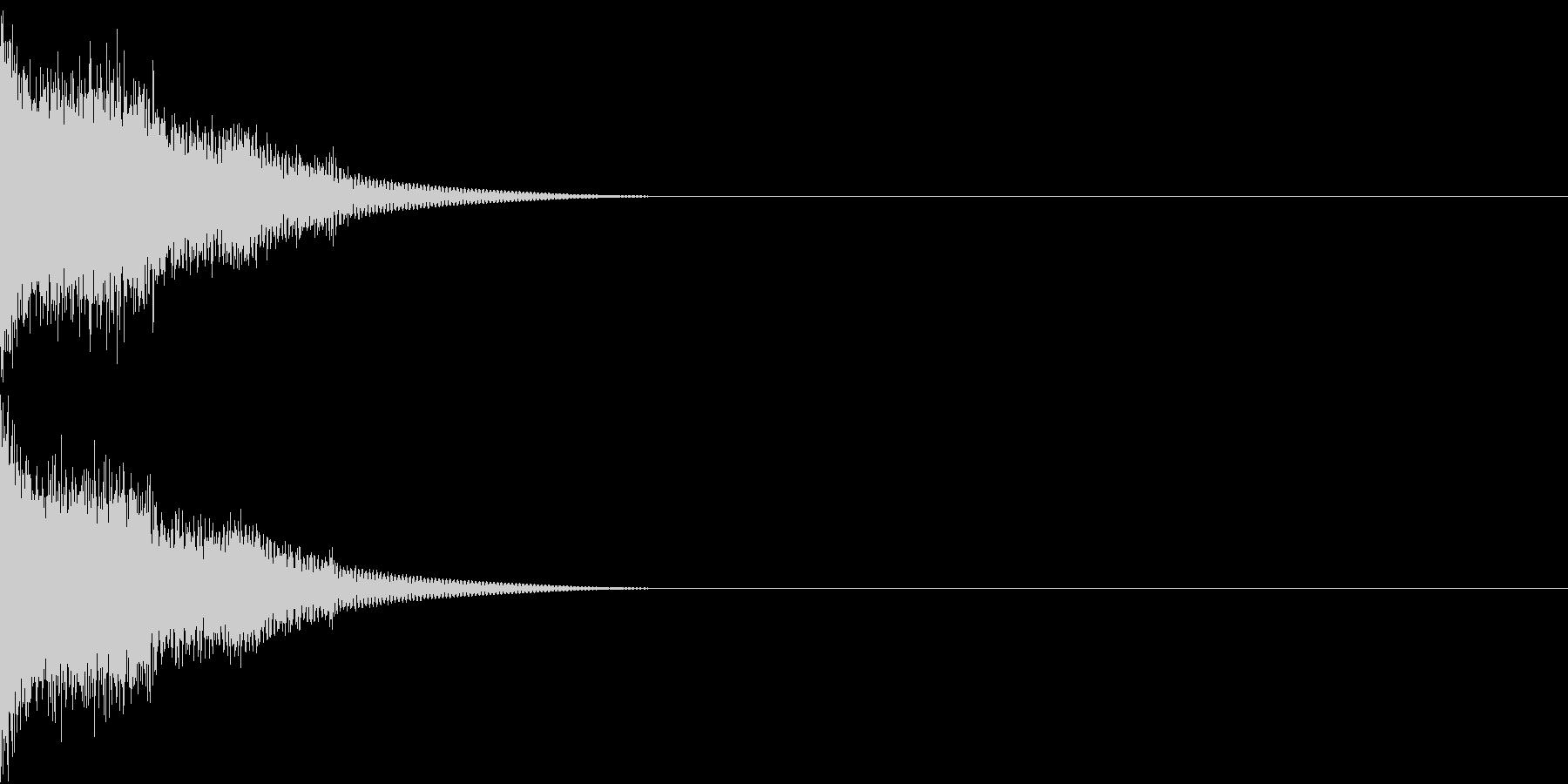 爆発 ヒューン ドーン 衝撃 バーンの未再生の波形