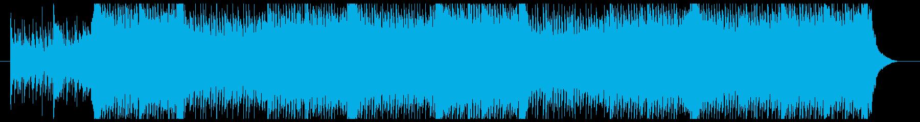 ちょっと激しめの4つ打ちポップス#2の再生済みの波形
