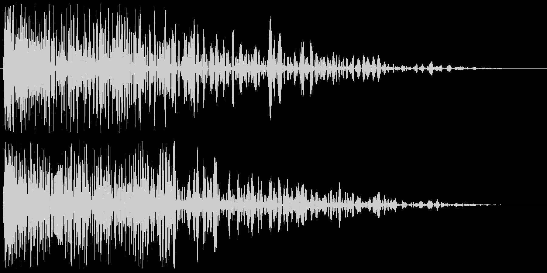 チュワーン(シューティング)の未再生の波形