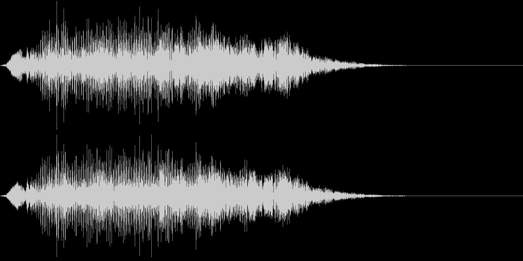 ニホンザルの鳴き声(ケンカし)の未再生の波形