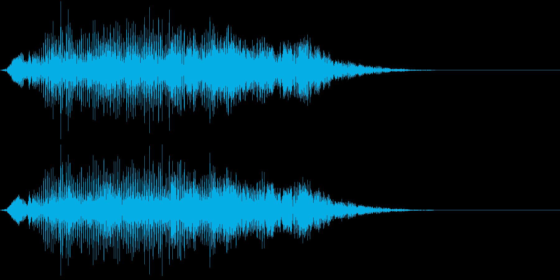 ニホンザルの鳴き声(ケンカし)の再生済みの波形