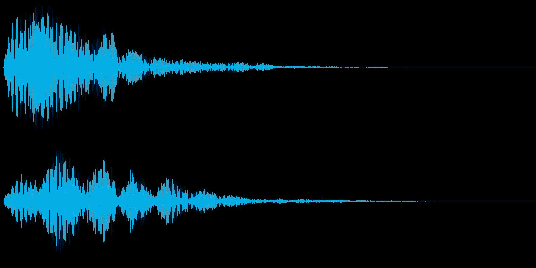 可愛らしいタイトルアップ音の再生済みの波形