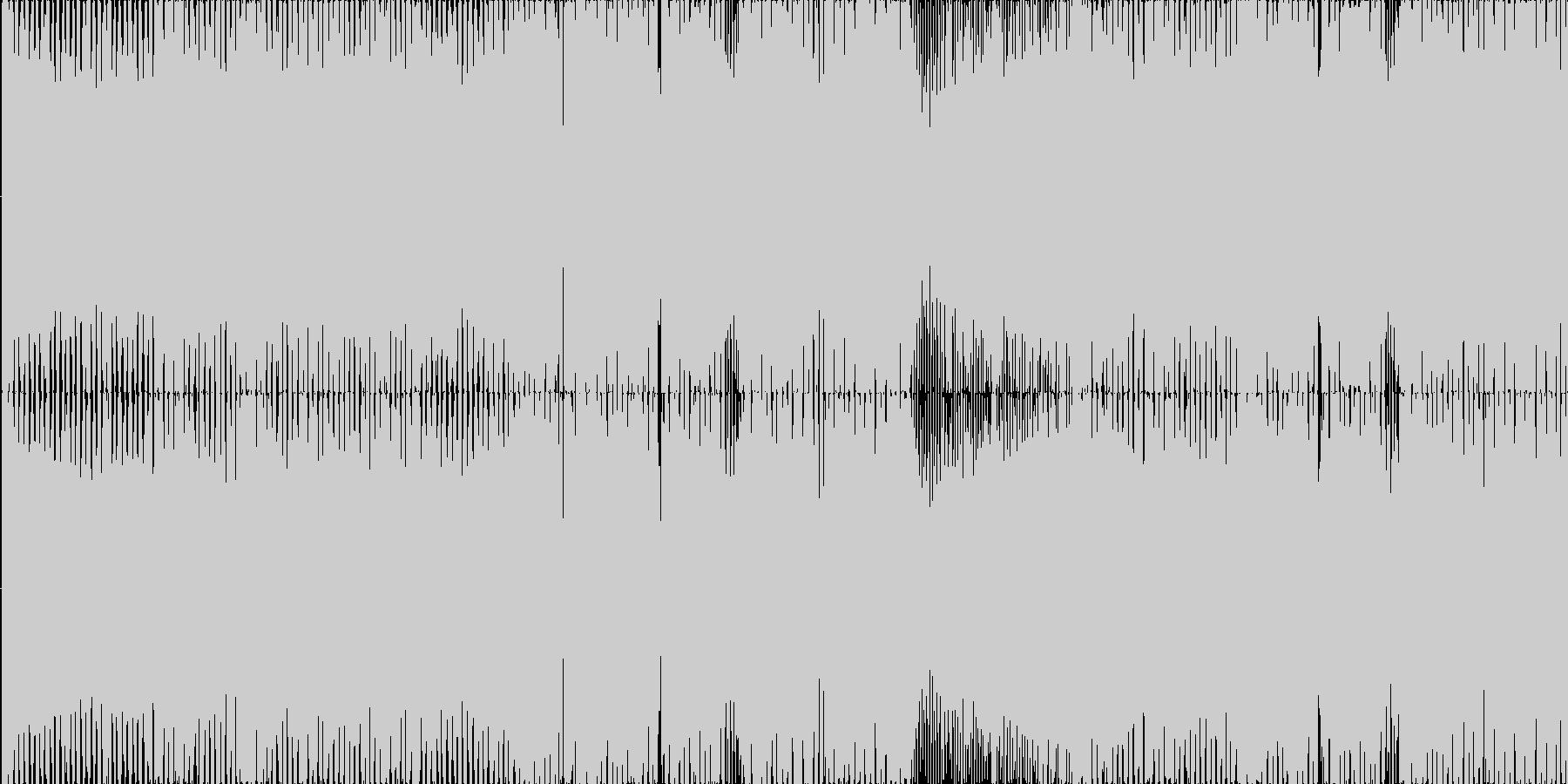 白熱の競争オープニング激しさLOOPの未再生の波形