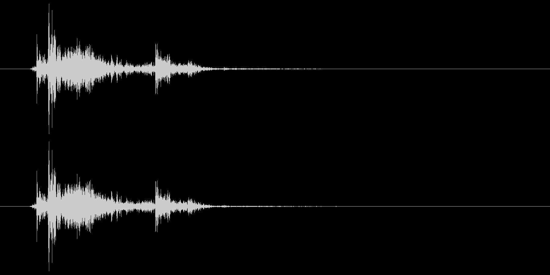 チャリン・チャリッ コイン獲得音の未再生の波形
