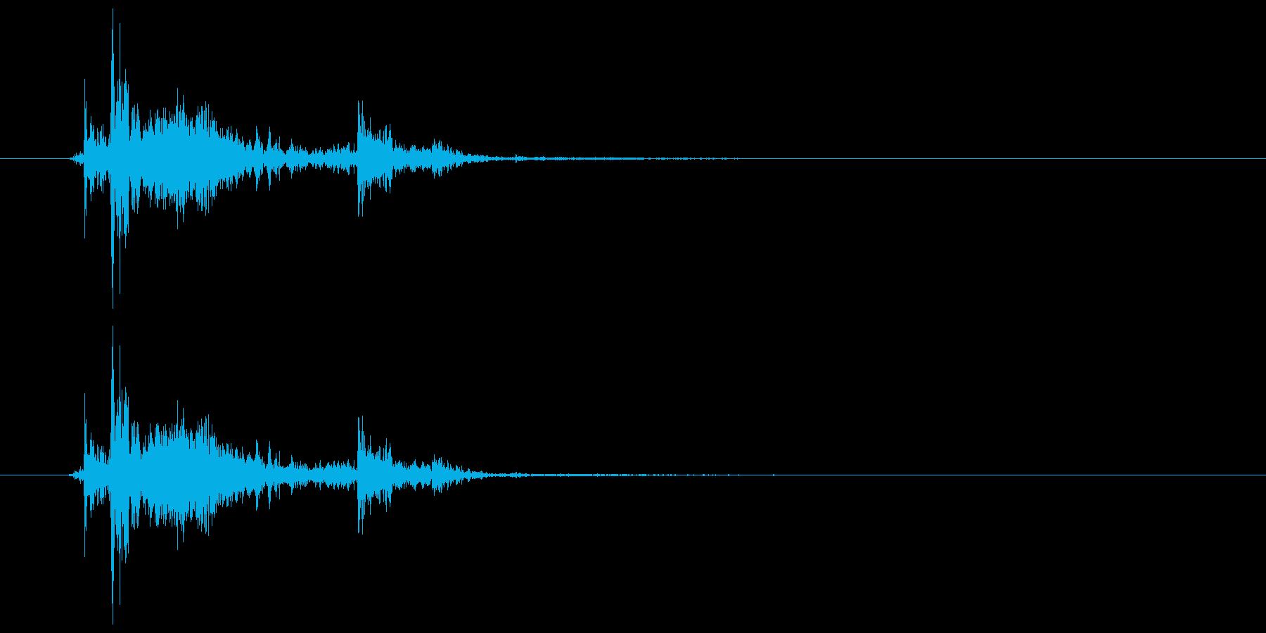 チャリン・チャリッ コイン獲得音の再生済みの波形