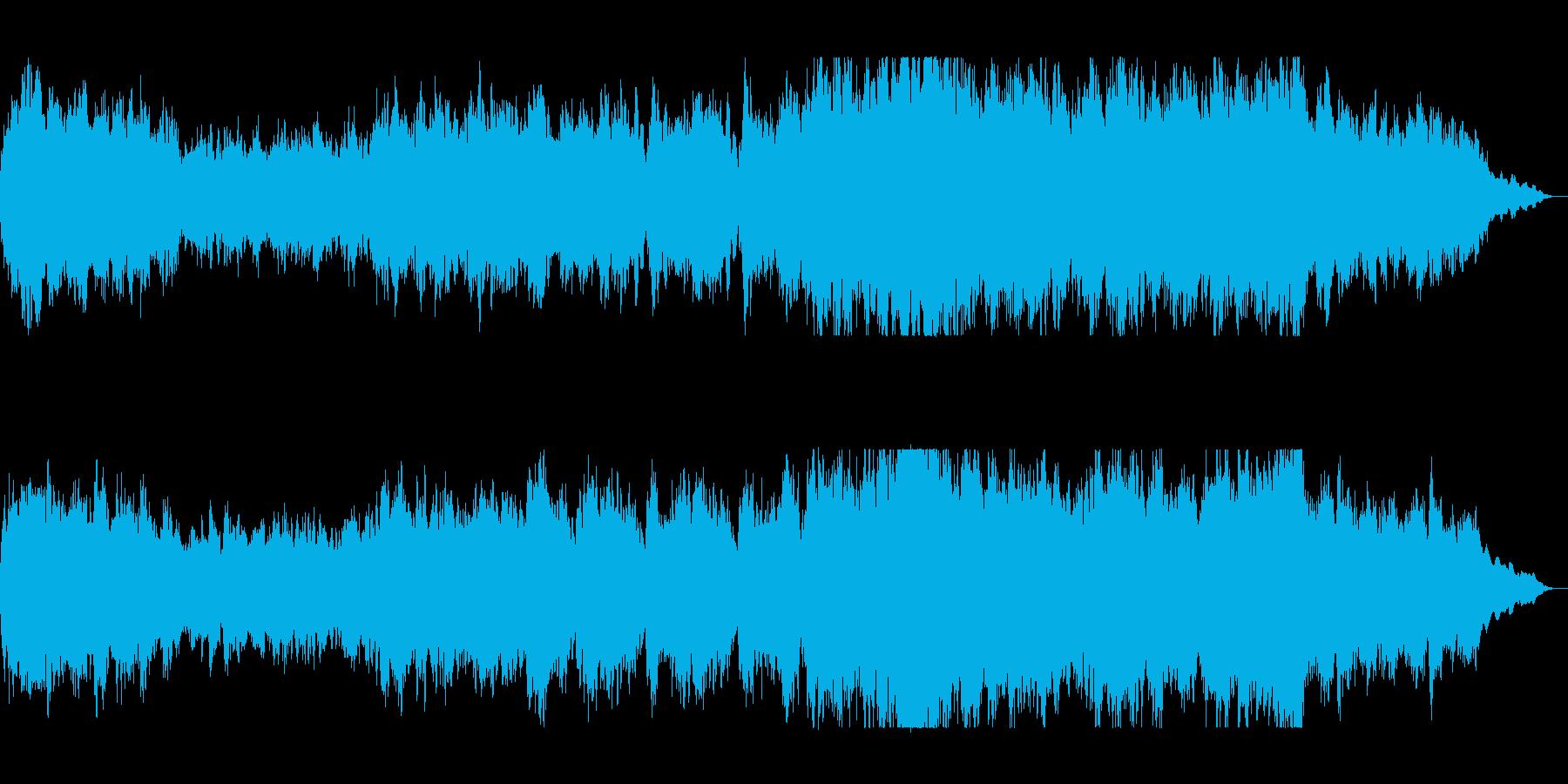 壮大で豪華なシンセサイザーサウンドの再生済みの波形