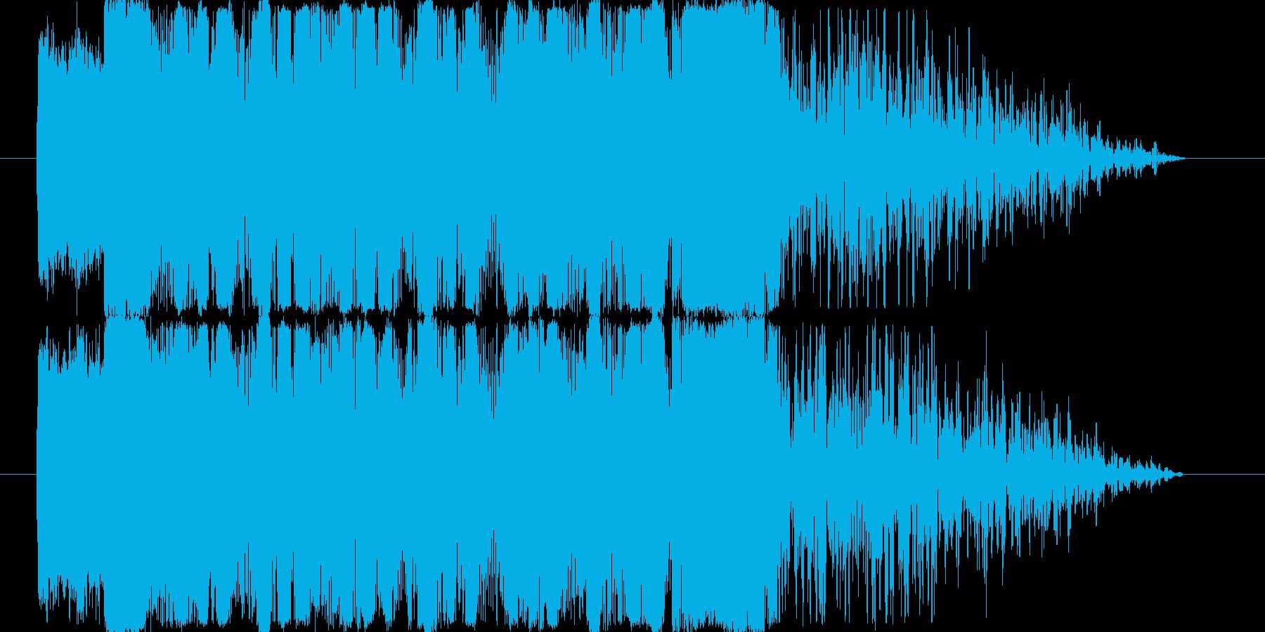 クールで疾走感のあるジングルの再生済みの波形
