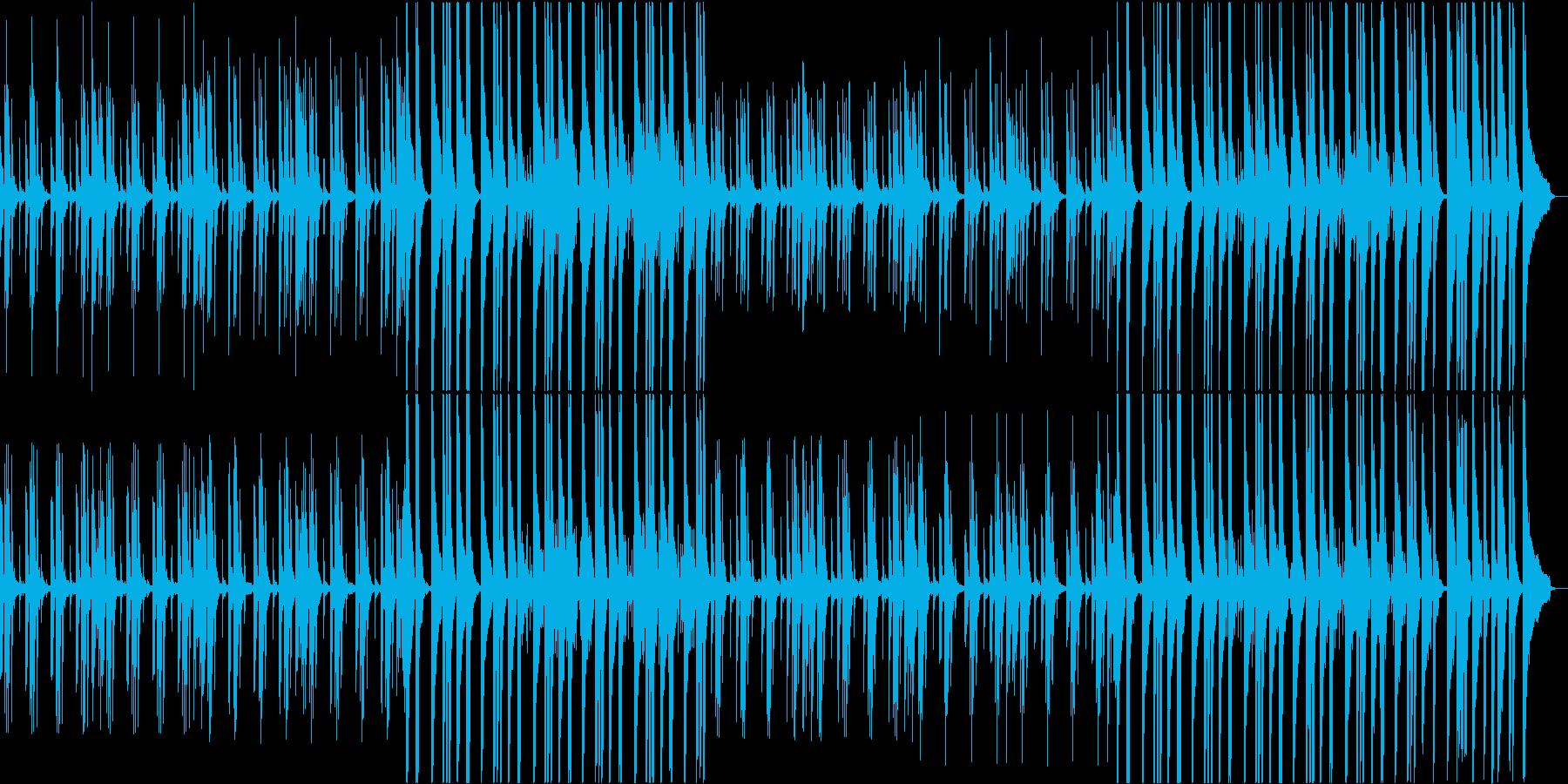 ミニマル音楽。不思議で幻想的なピアノ曲の再生済みの波形