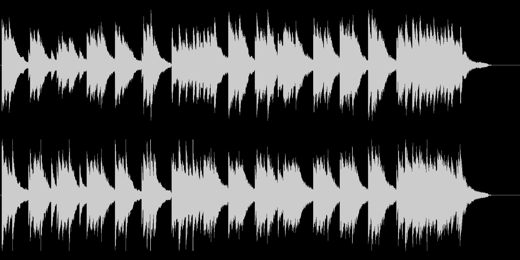 【ピアノ バラード】優しいピアノの未再生の波形