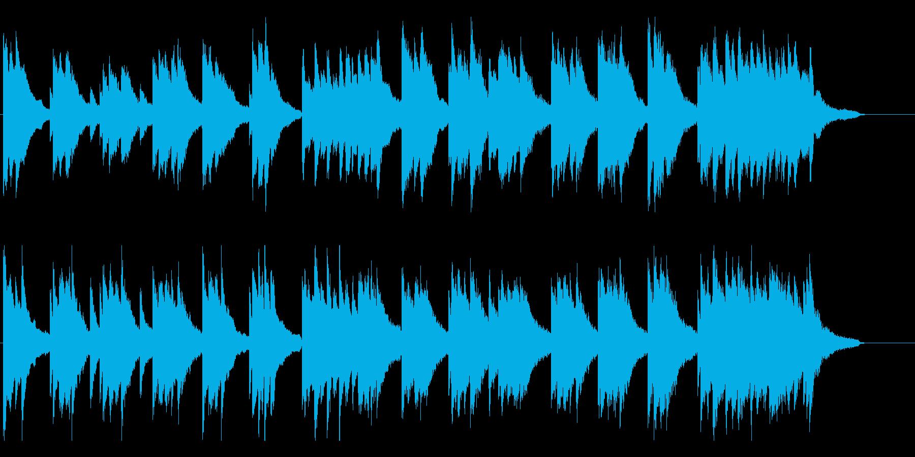 【ピアノ バラード】優しいピアノの再生済みの波形
