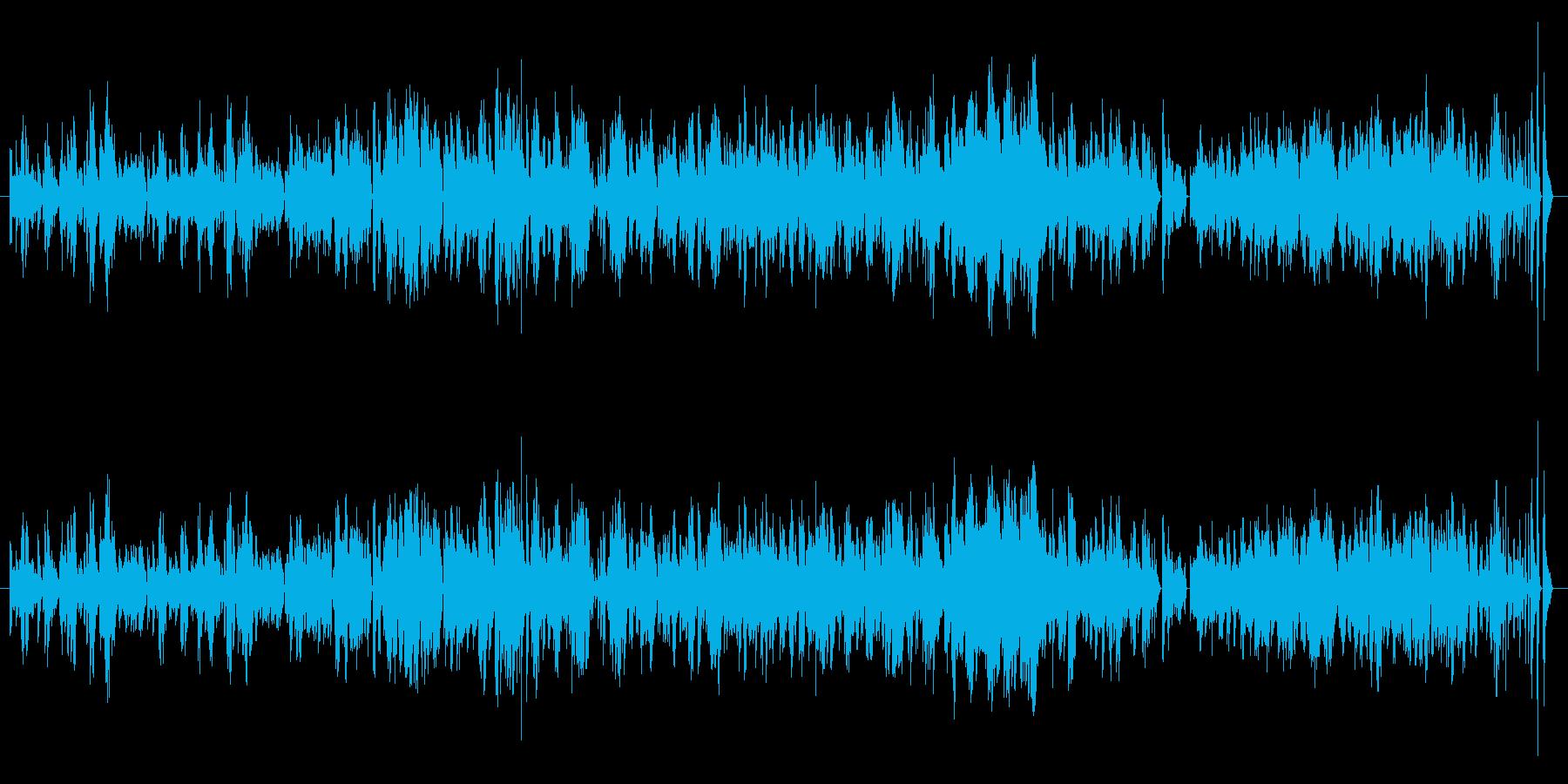 朗らかで快活なピアノソロ曲の再生済みの波形