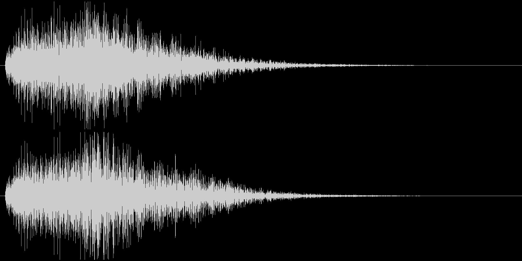 クイズ出題音(デデデン!)の未再生の波形
