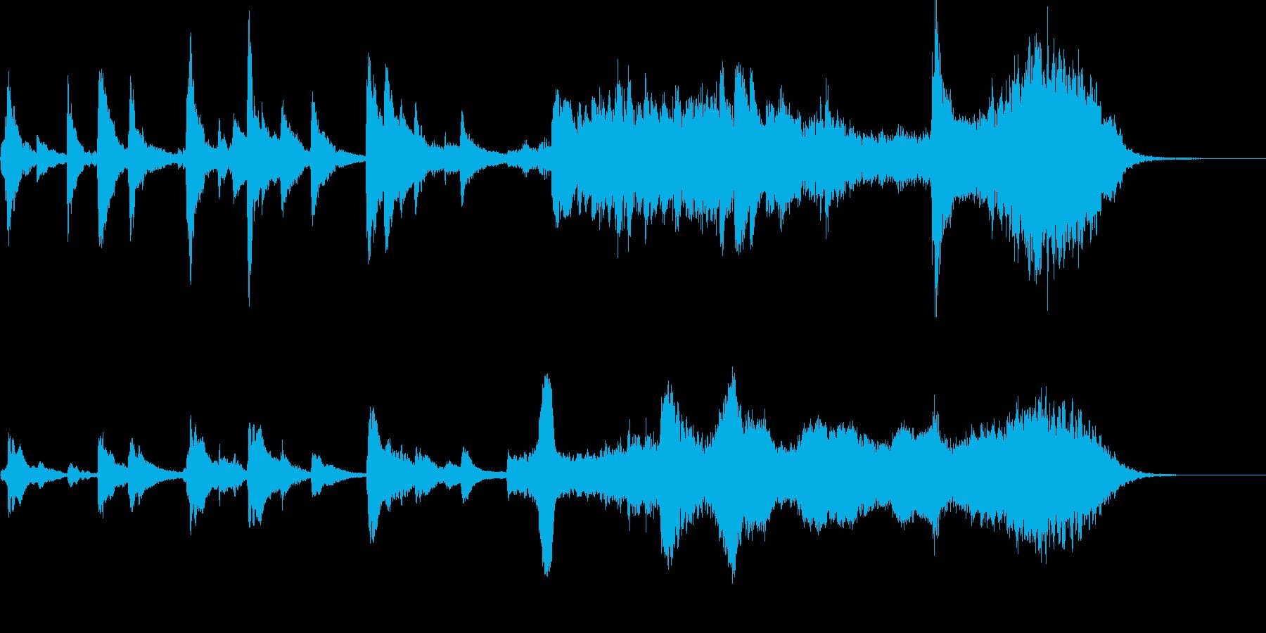 短:弦楽器とハープの幻想的なジングルの再生済みの波形