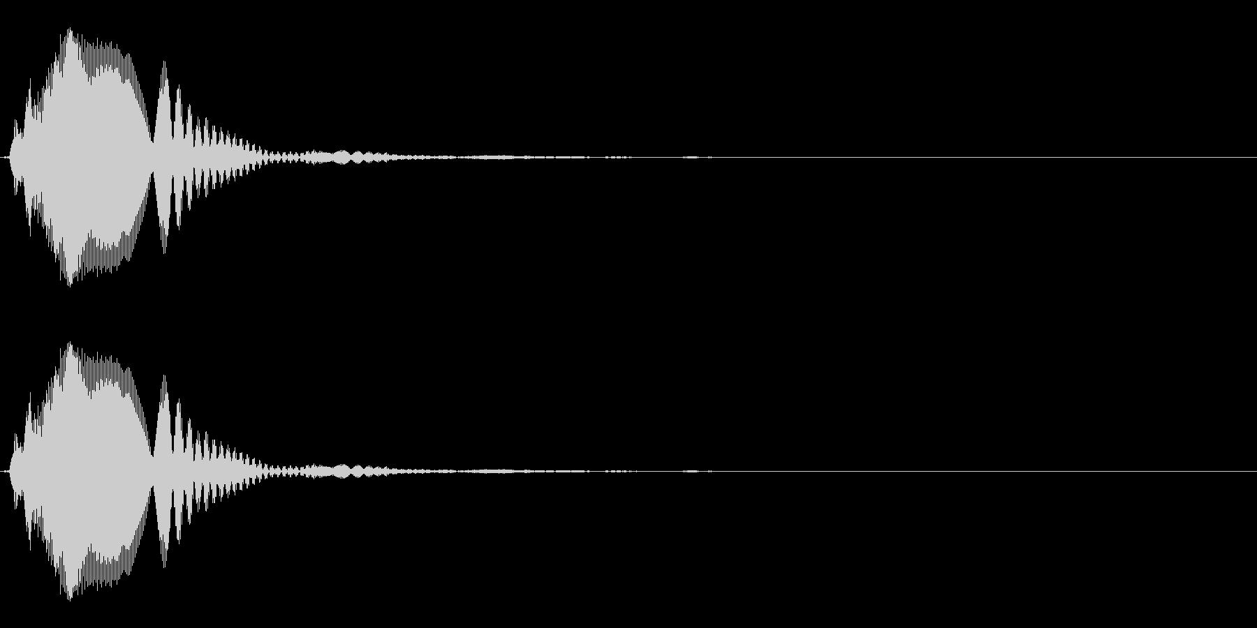 ボタン/クリック(チッとホゥンの合成音)の未再生の波形