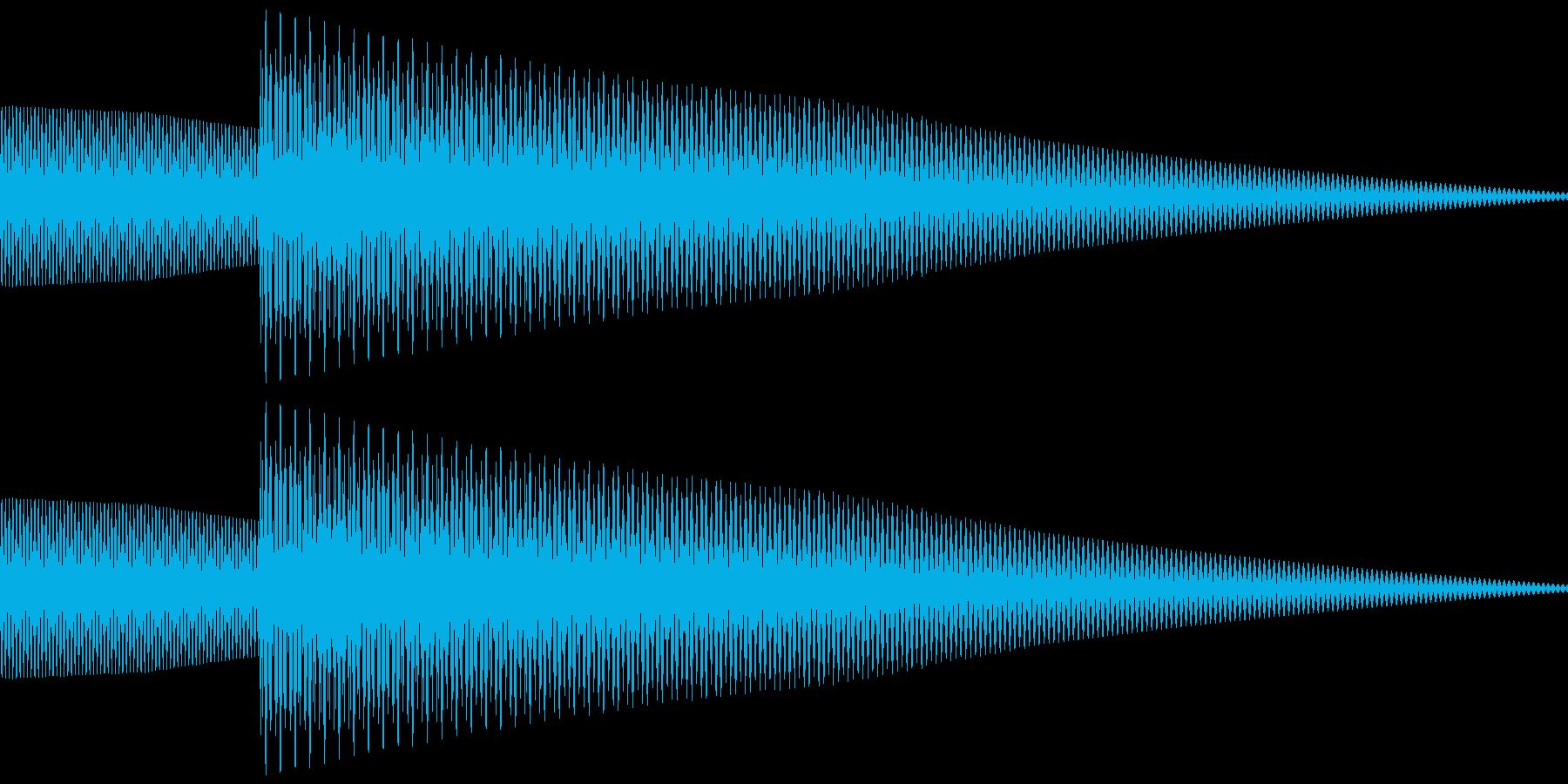 クイズなど回答音、正解音 (ピローン)の再生済みの波形