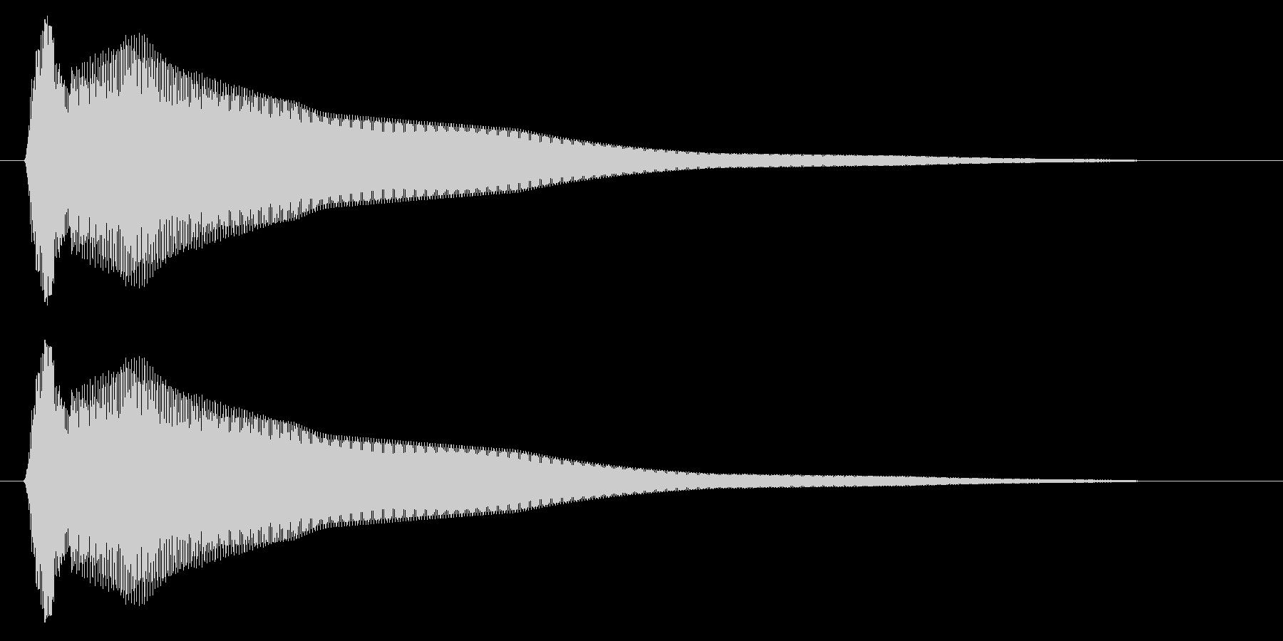 コーン(ベルのような短い効果音)の未再生の波形