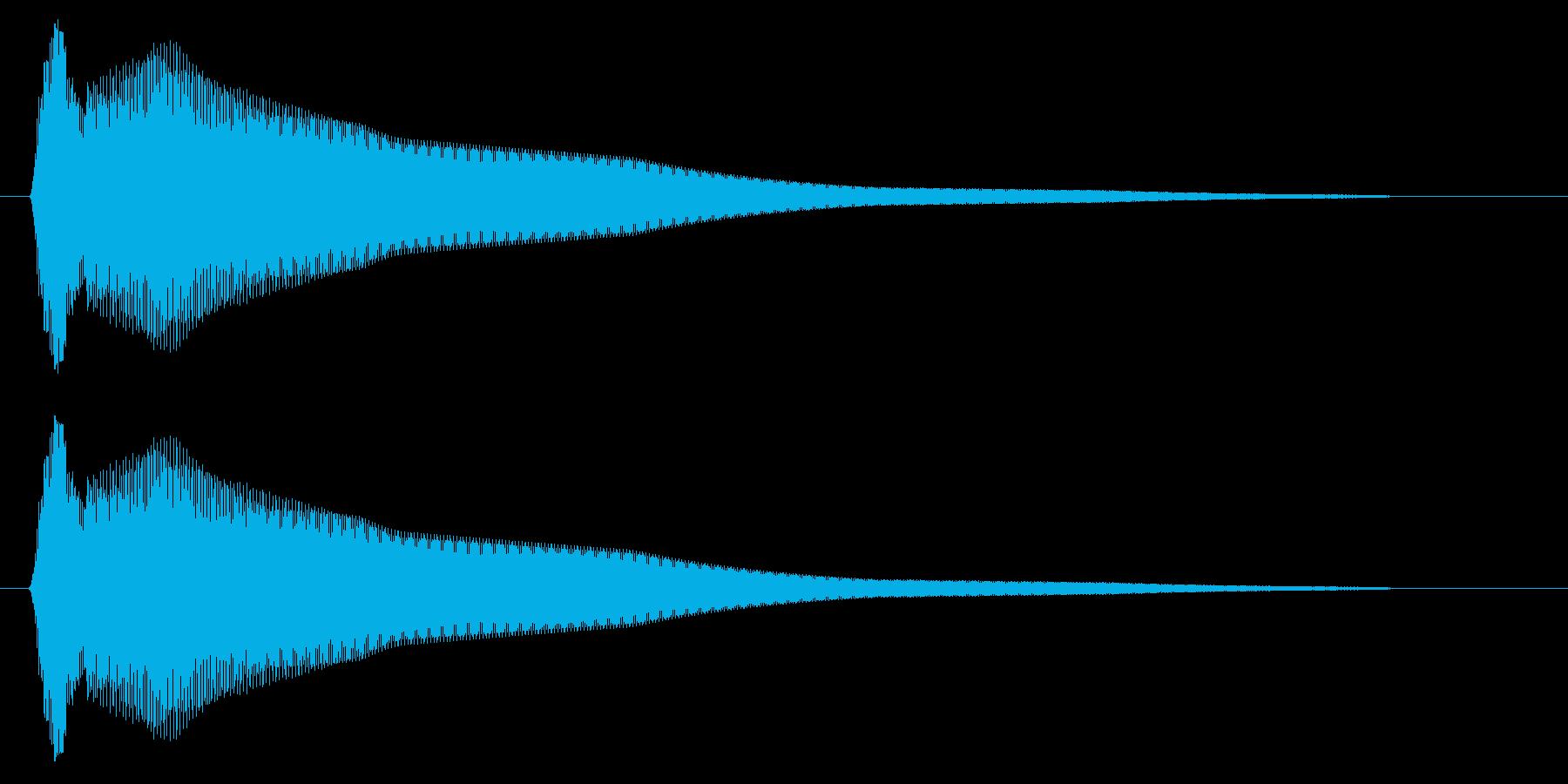 コーン(ベルのような短い効果音)の再生済みの波形