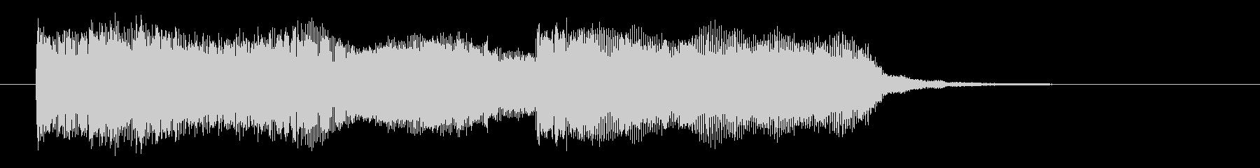宇宙感とミステリアスなシンセサウンド短めの未再生の波形