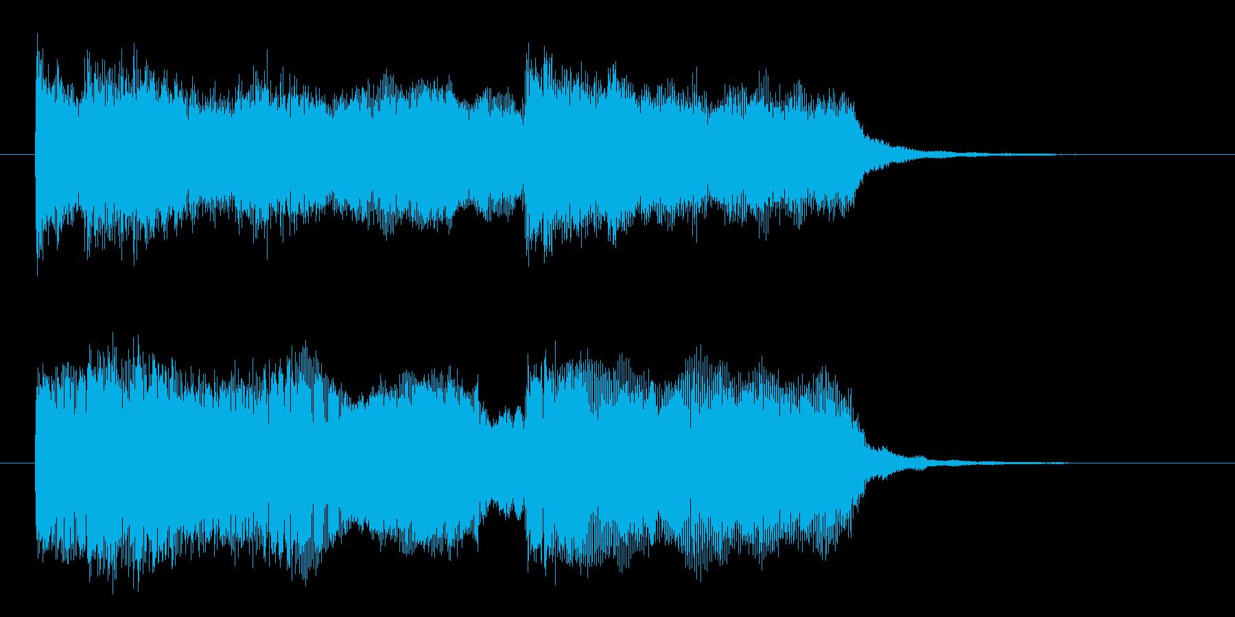 宇宙感とミステリアスなシンセサウンド短めの再生済みの波形