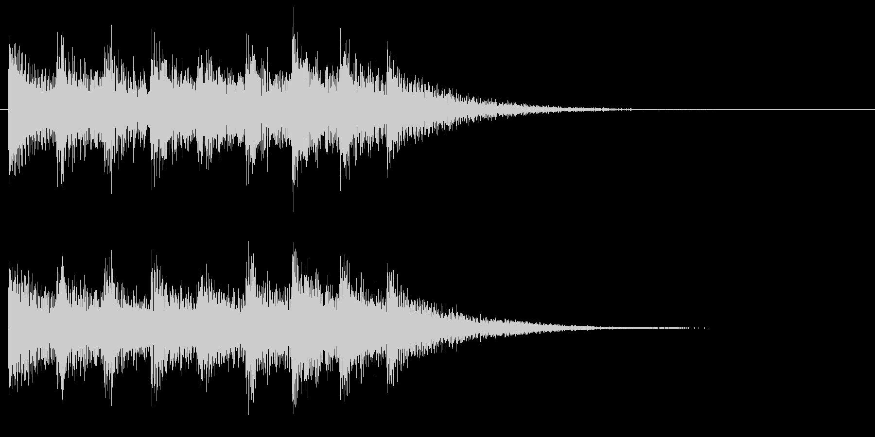 和風な演出 和楽器 琴の場面転換 D2の未再生の波形