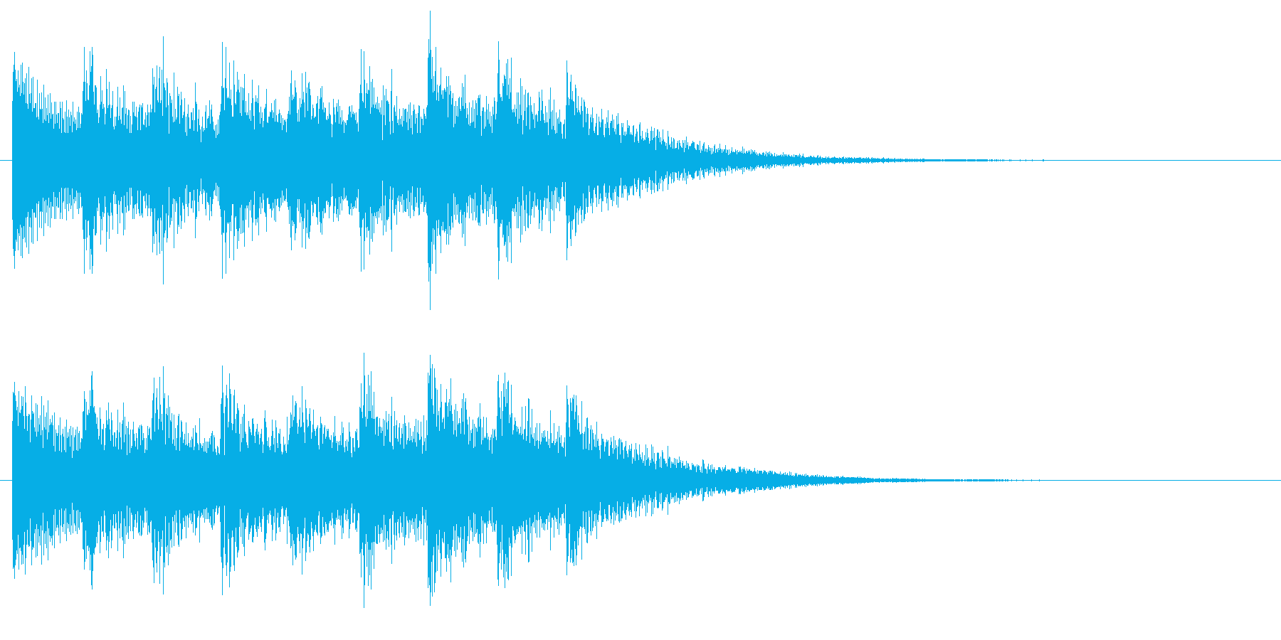 和風な演出 和楽器 琴の場面転換 D2の再生済みの波形