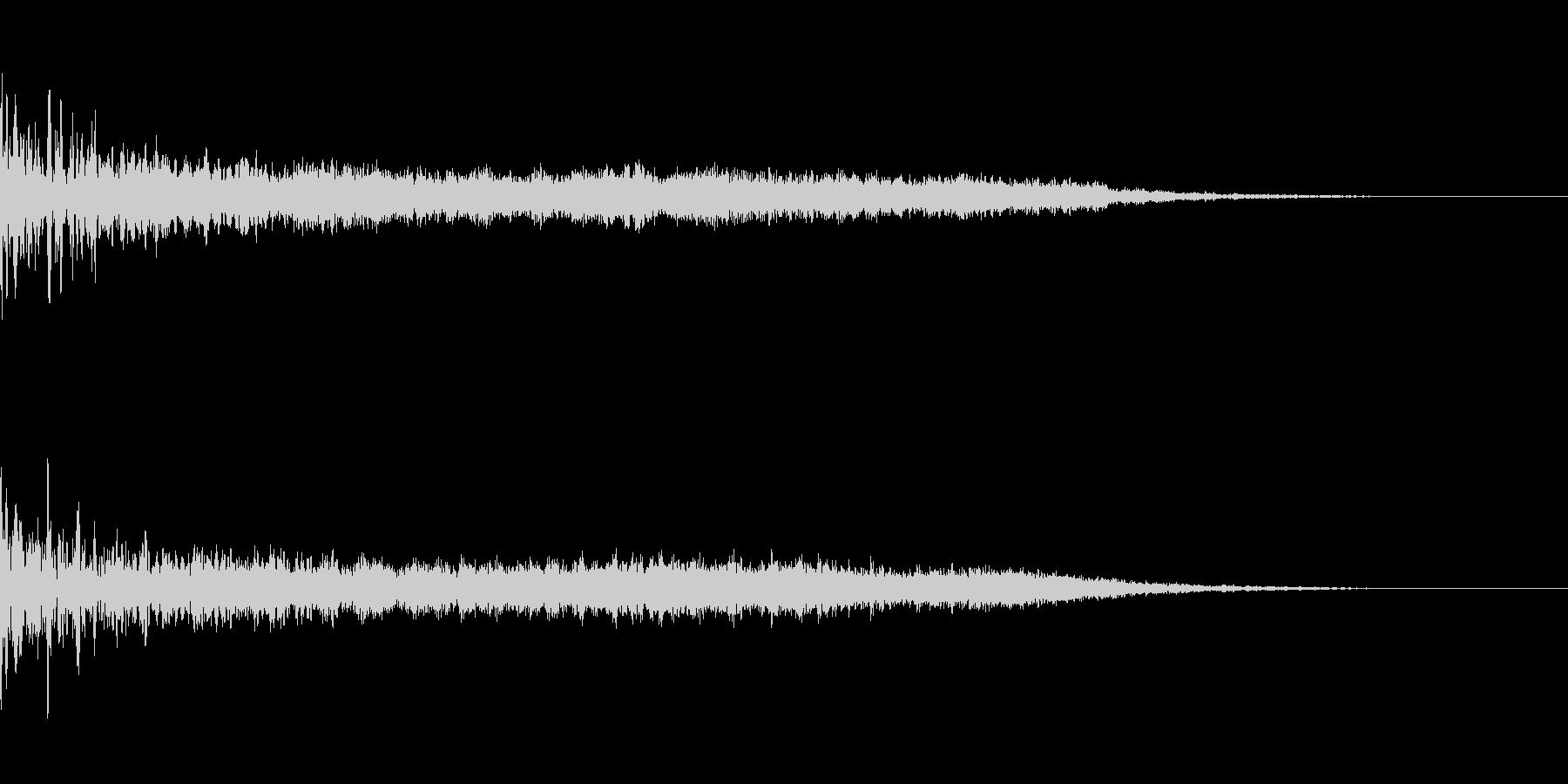 不気味なジングルの未再生の波形