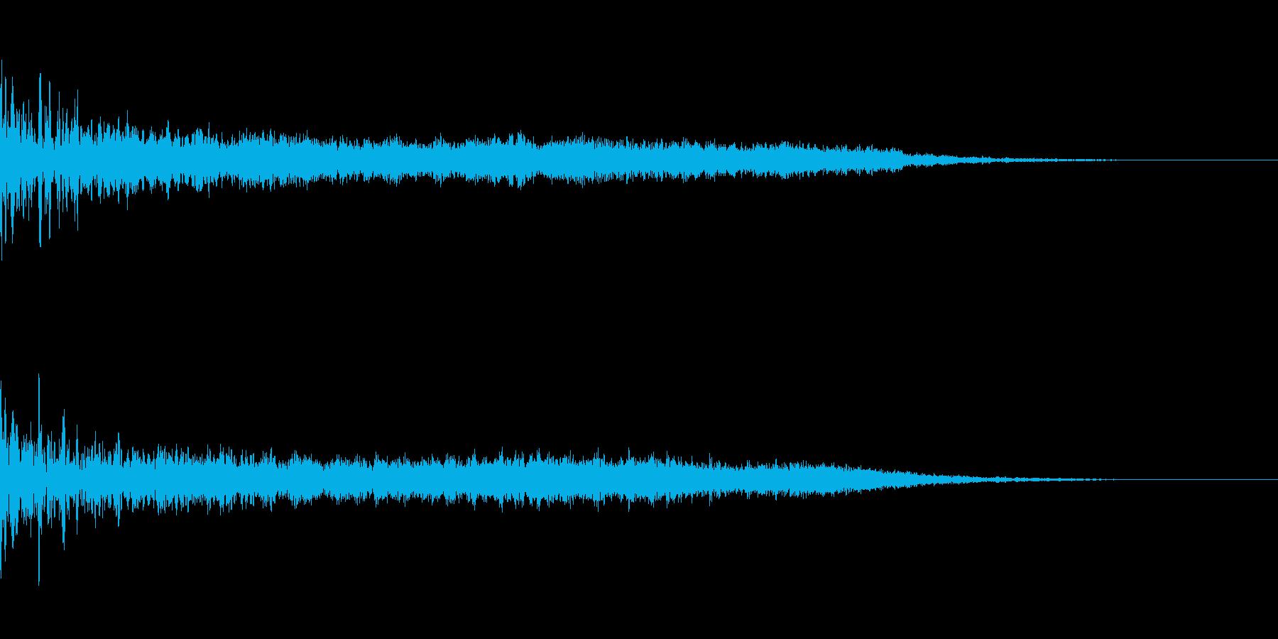 不気味なジングルの再生済みの波形