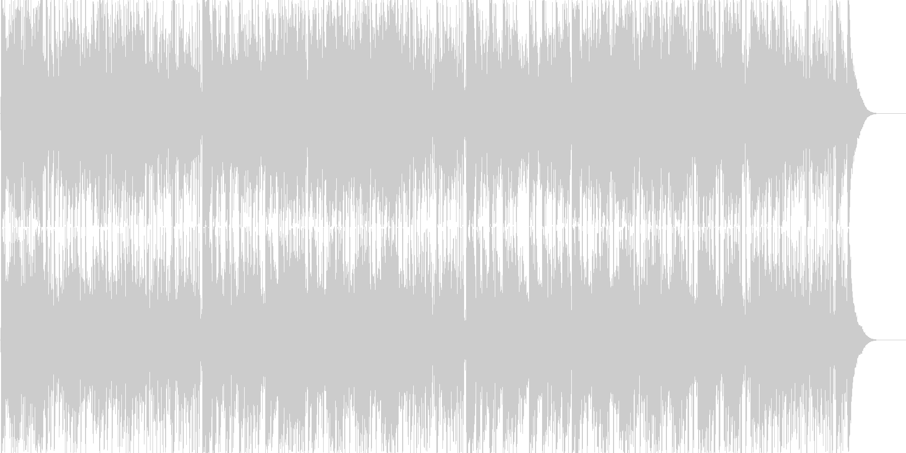 番組オープニングテーマ曲にぴったりな曲の未再生の波形