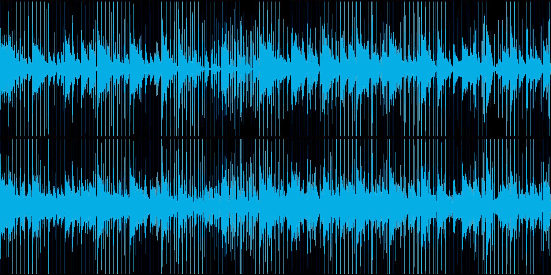 謎解き、推理中、ミステリー調(ループ)の再生済みの波形