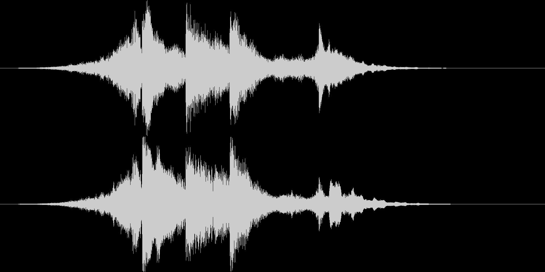 アコギとピアノで奏でるジングル#3の未再生の波形