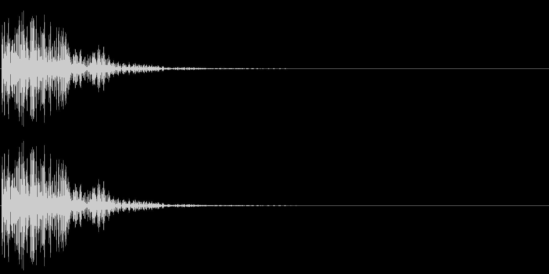 太鼓ドドドンの未再生の波形