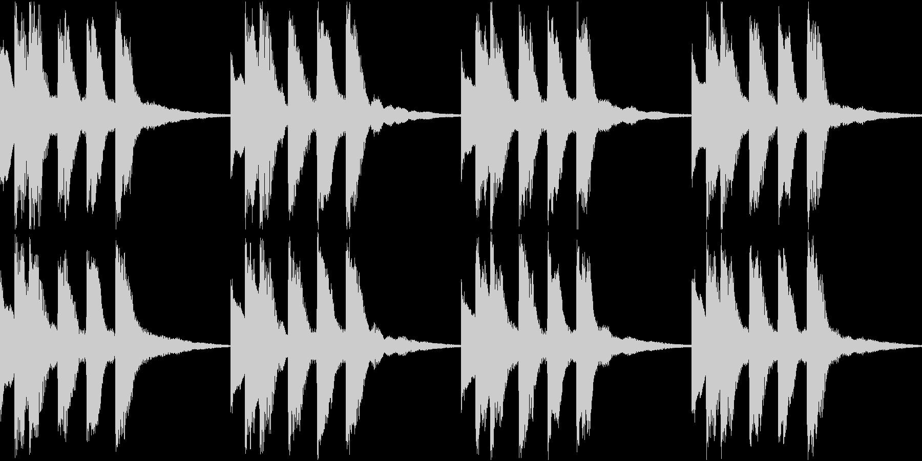 シンプル ベル 着信音 チャイム B18の未再生の波形