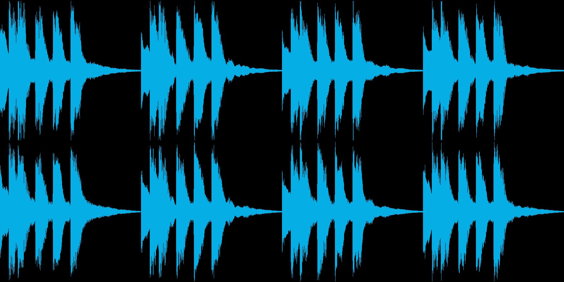 シンプル ベル 着信音 チャイム B18の再生済みの波形