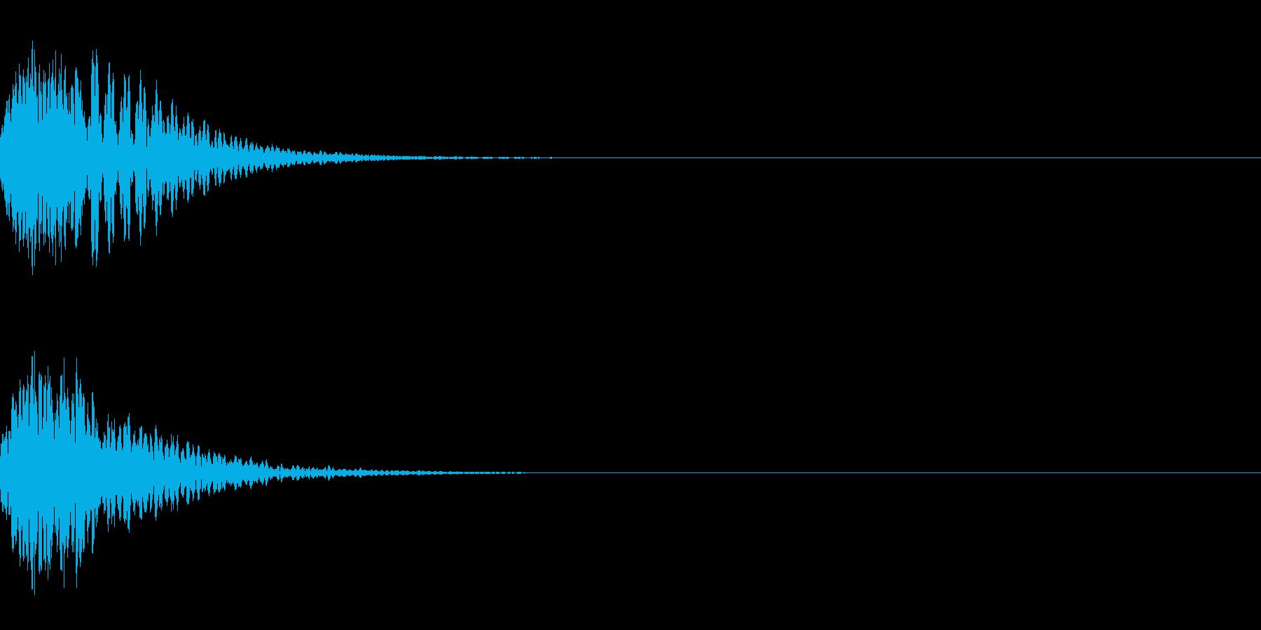 キュイン 光 ピカーン フラッシュ 06の再生済みの波形