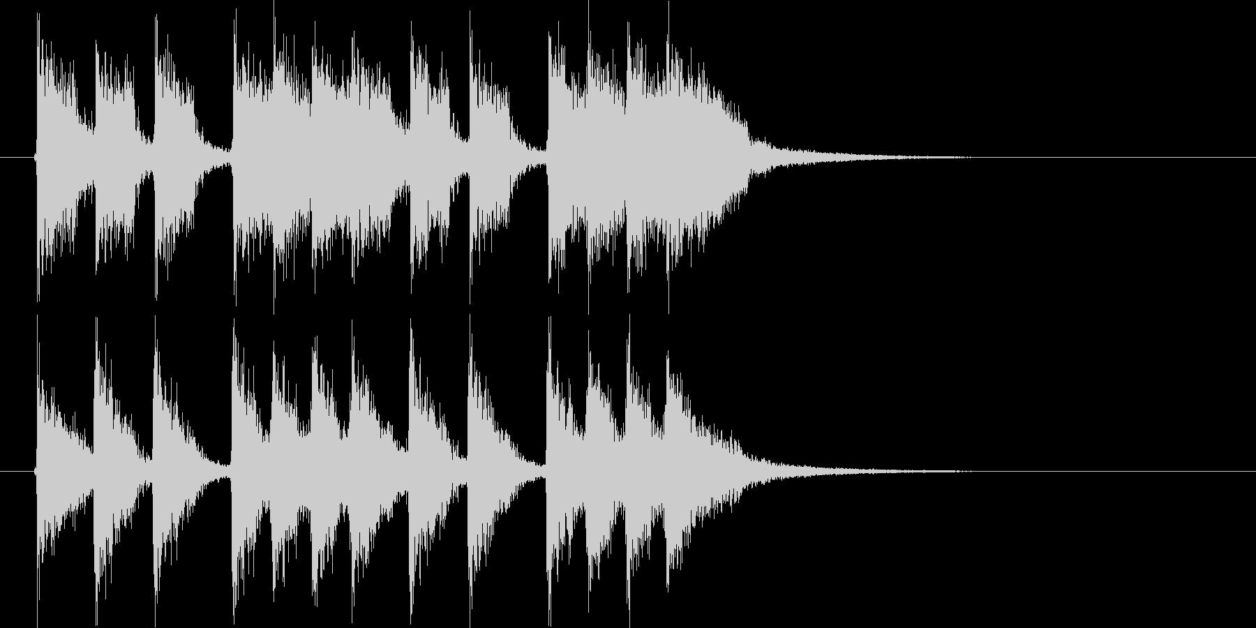 ディスコのようなジングルの未再生の波形