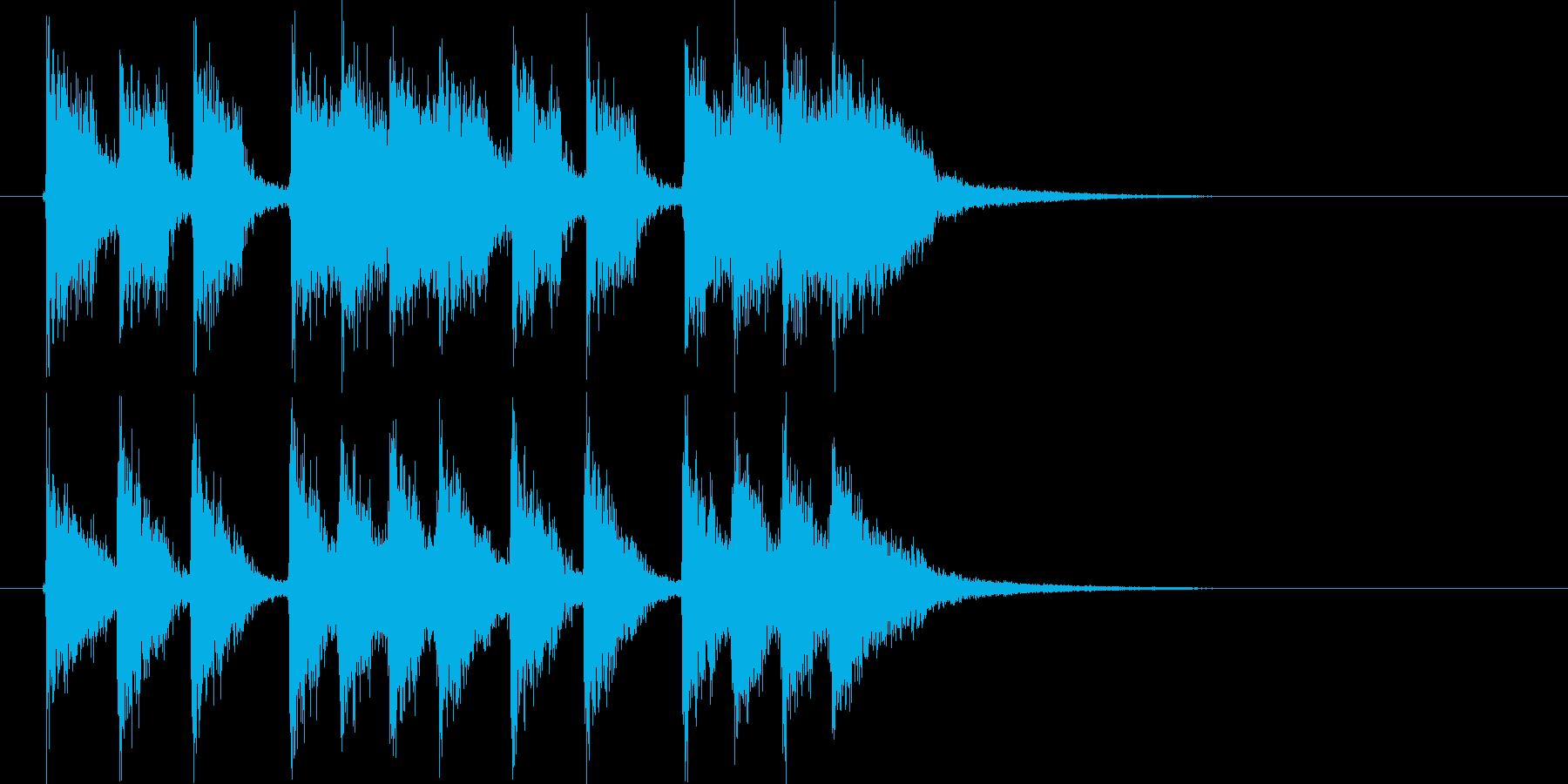 ディスコのようなジングルの再生済みの波形