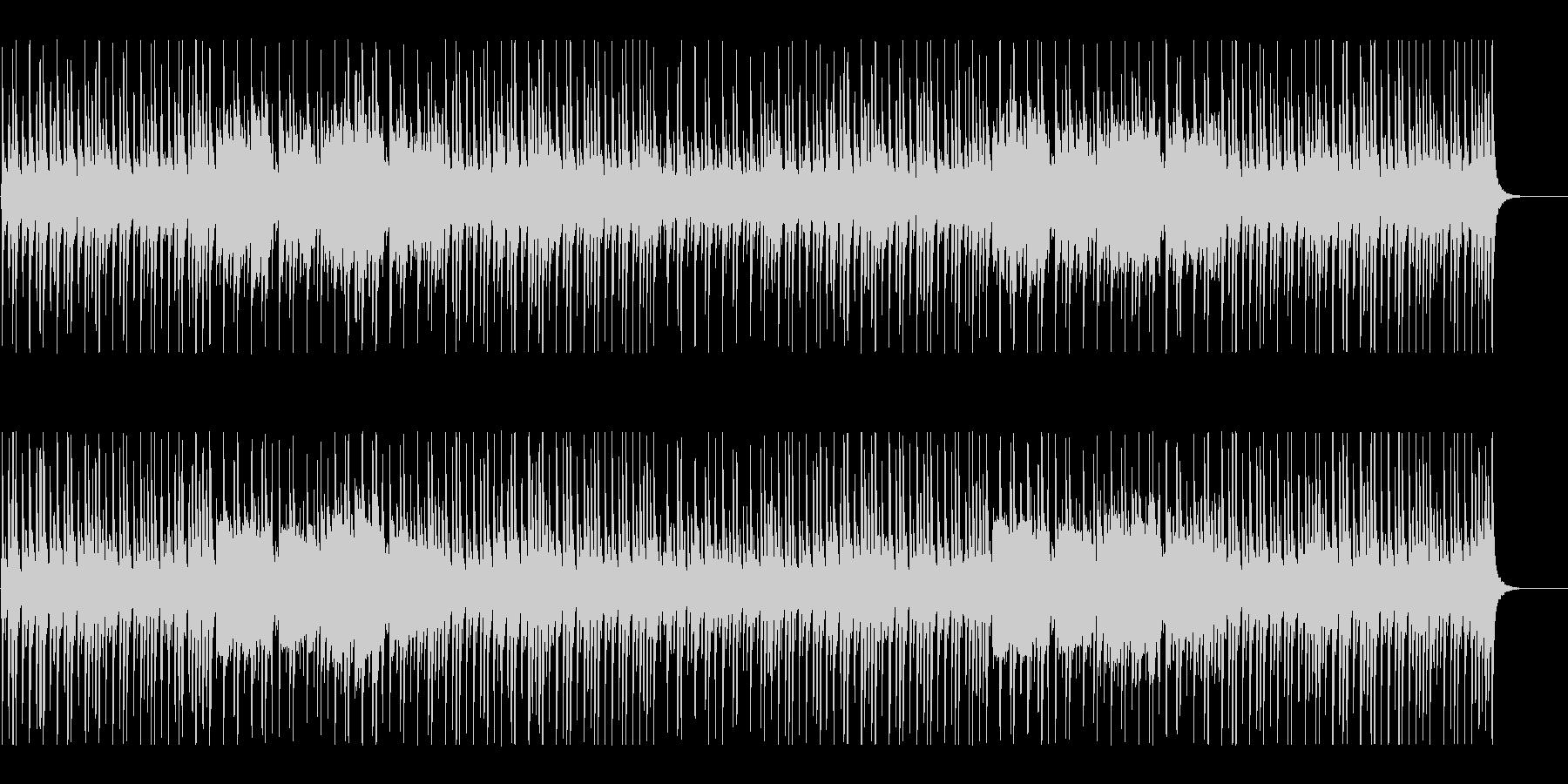 爽やかでほのぼのとしたBGMの未再生の波形