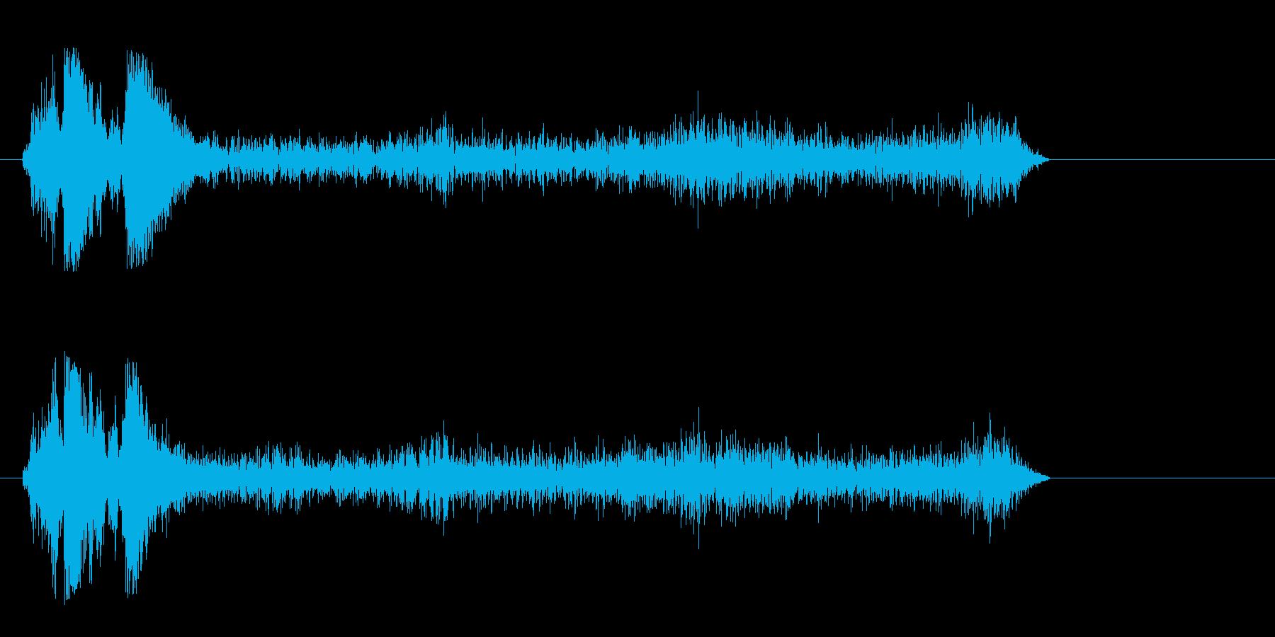 シュウウウというマシンの作動音の再生済みの波形