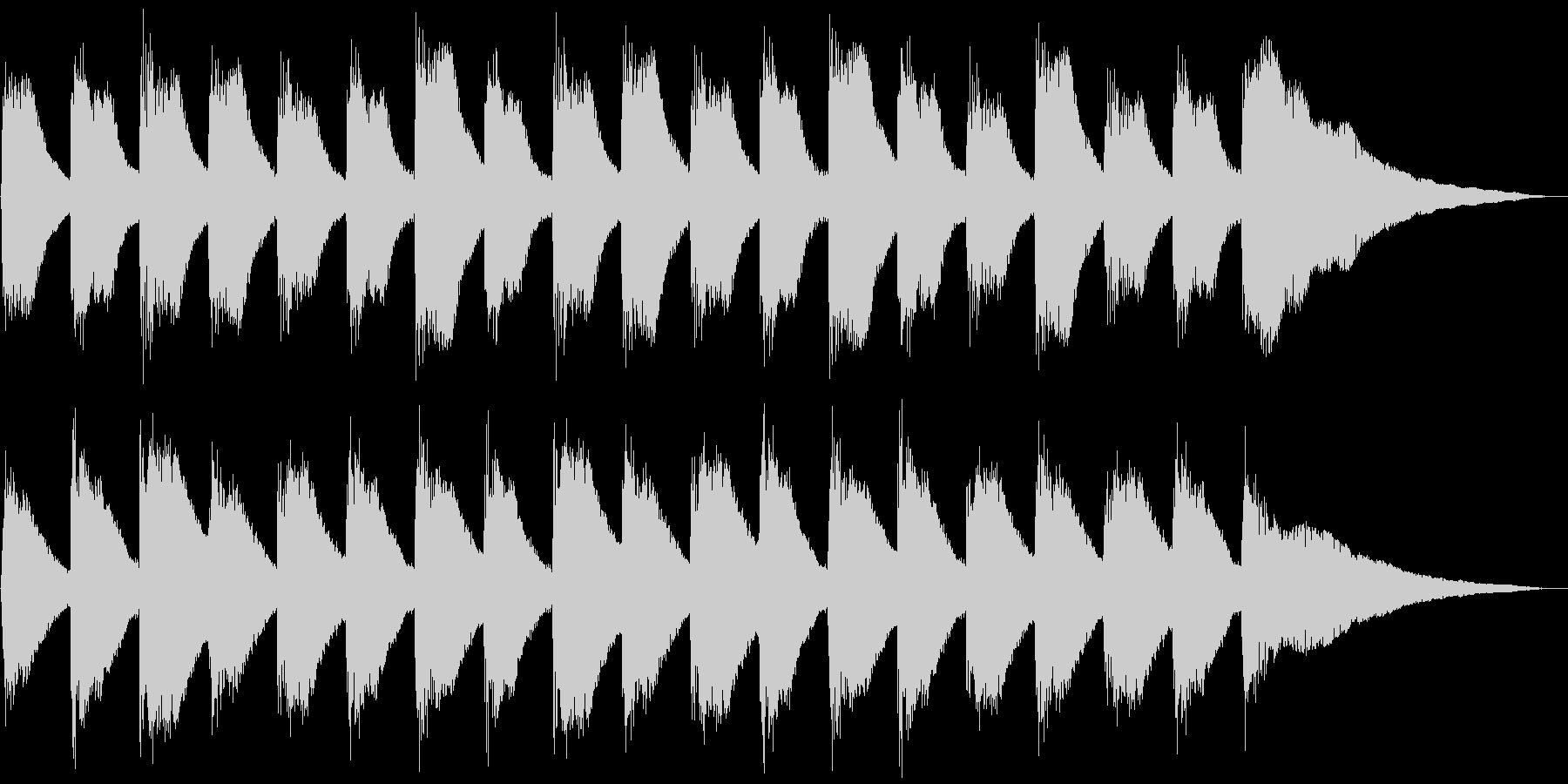 子供と爽やかピアノ、5秒CM、ver.Dの未再生の波形