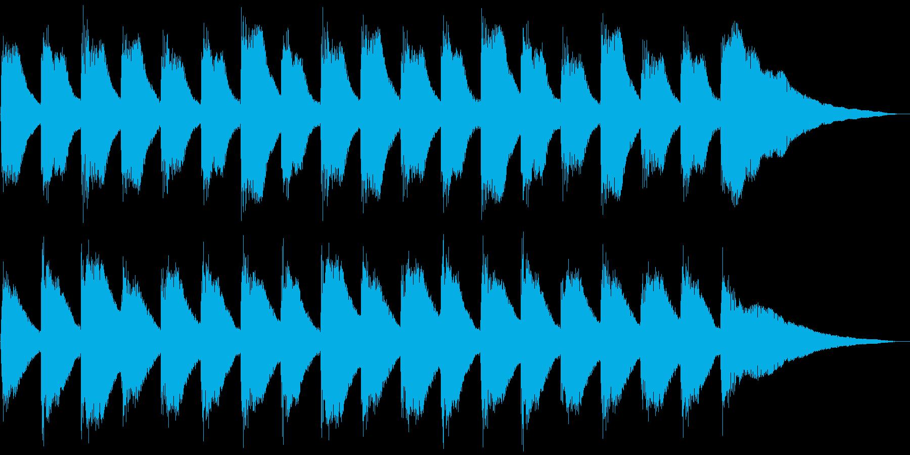子供と爽やかピアノ、5秒CM、ver.Dの再生済みの波形