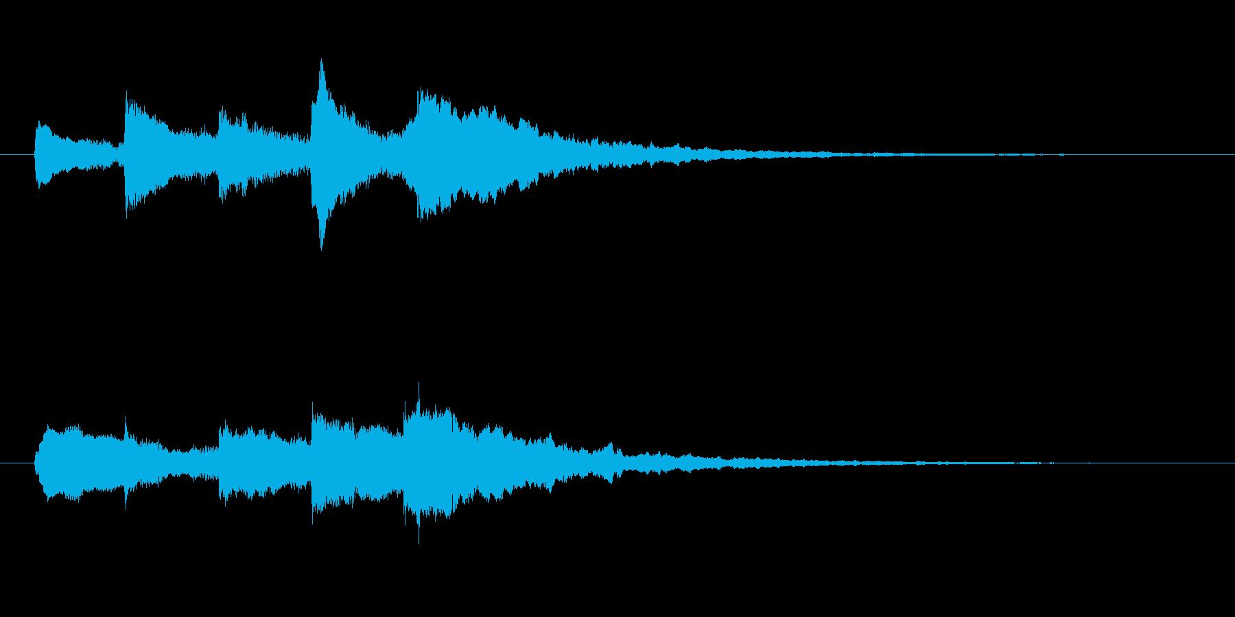 サウンドロゴ 成功 優しい イメージの再生済みの波形