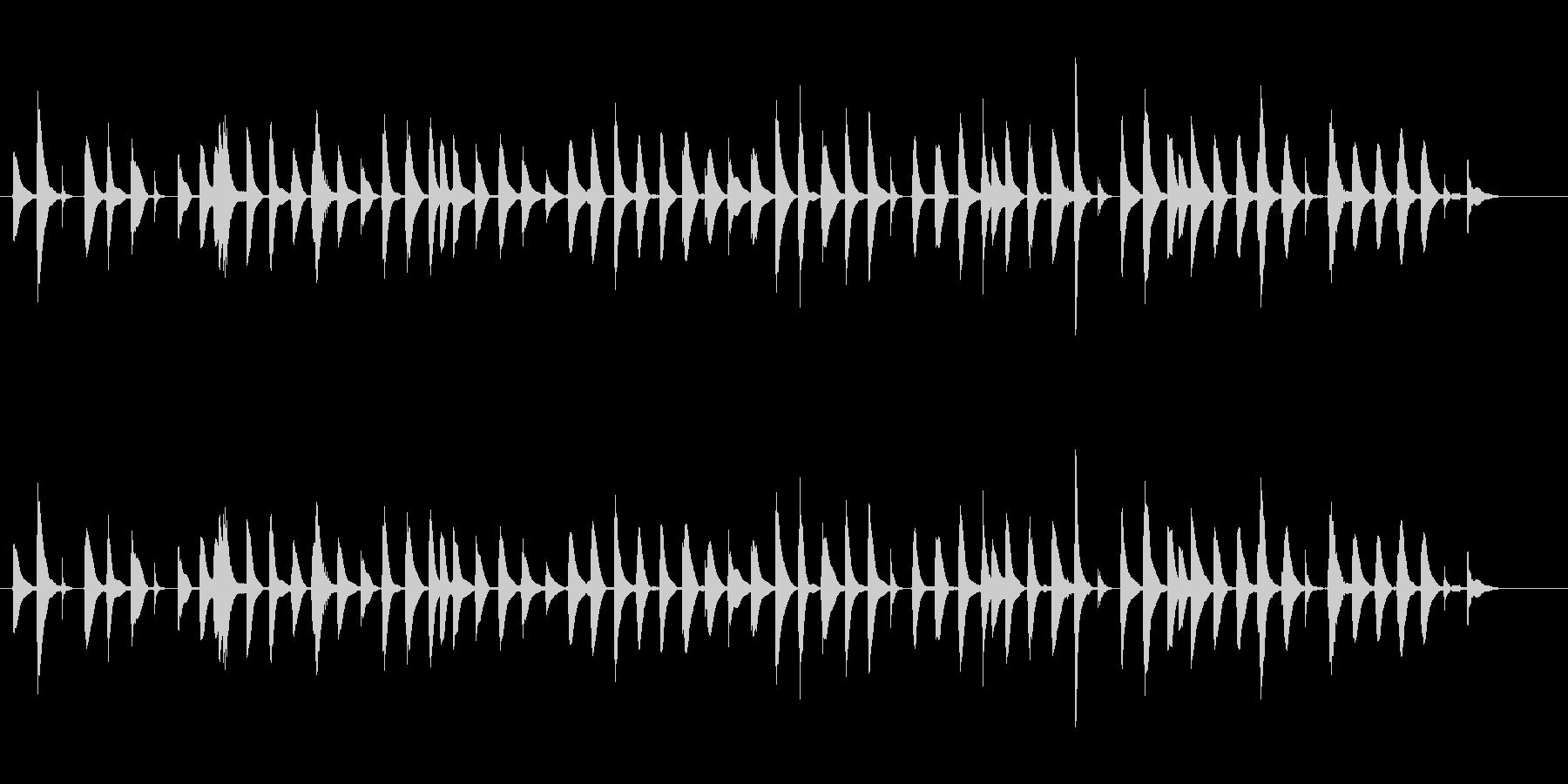 ほのぼの癒し系/バイオリンとビブラフォンの未再生の波形