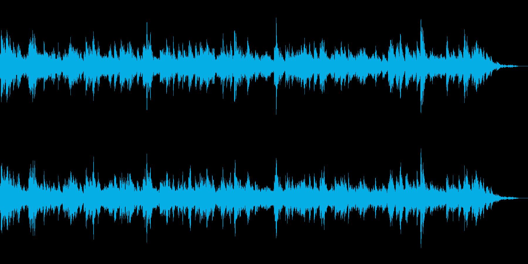 静かで幻想的なアンビエントBGMの再生済みの波形