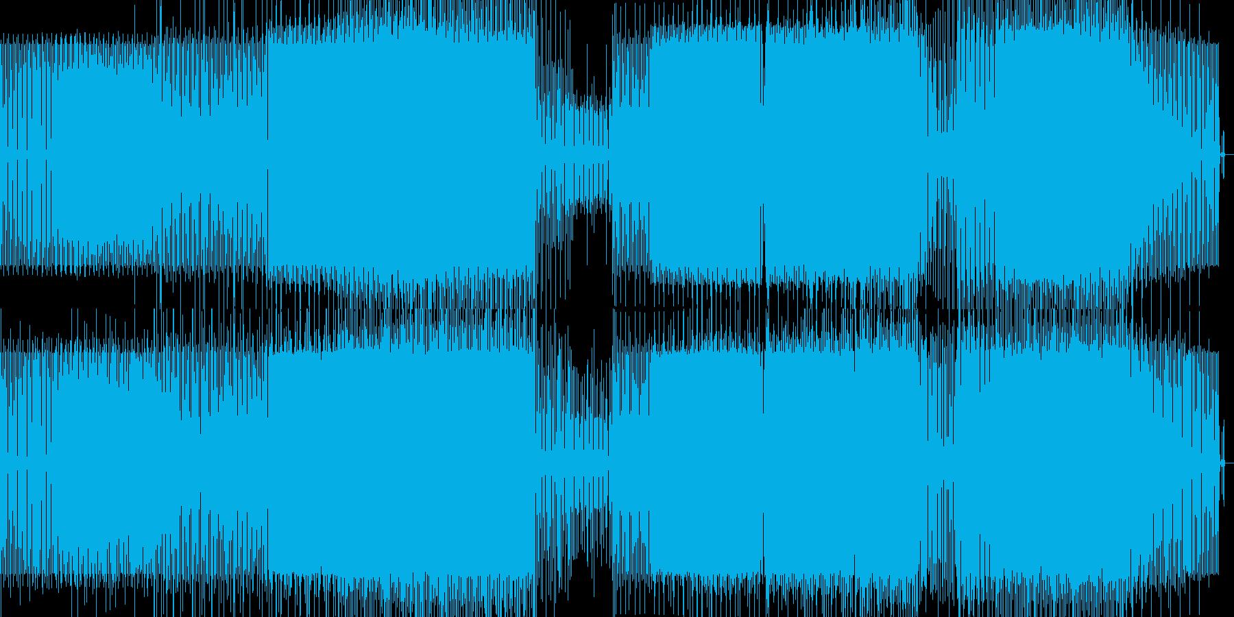 ミニマルなハウスの再生済みの波形