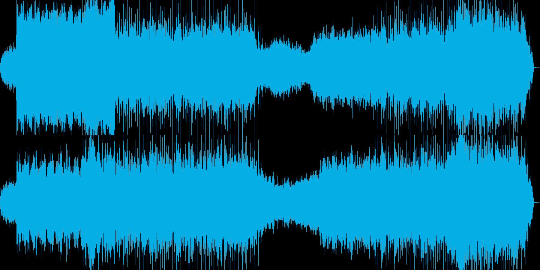 雲のような背景的音楽の再生済みの波形